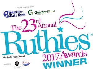 2017 Ruthies Winner for Massage